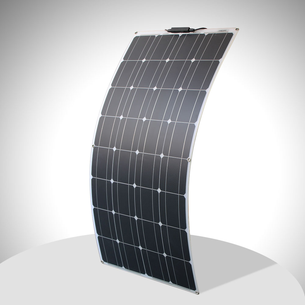 <font><b>12v</b></font> <font><b>100w</b></font> <font><b>solar</b></font> <font><b>panel</b></font> flexible high quality monocrystalline <font><b>solar</b></font> <font><b>panel</b></font> cell 100 watt for motorhome image