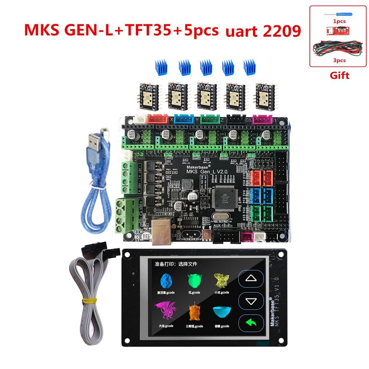 MKS GEN L V2.0 + MKS TFT35 LCD 3D printer accessories support a4988 DRV8825 tmc2100 tmc2208 tmc2130 TMC2209 stepper driver plate