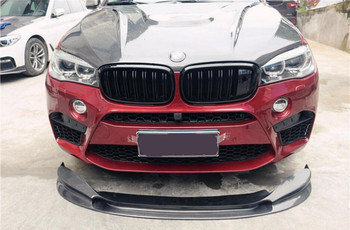 3D Style Carbon Fiber Front Bumper Lip Rear Bumper Diffuser Side Skirts 3D-Design Fits For BMW X5 F15 X5M X6 F16 X6M 2014-2018 image