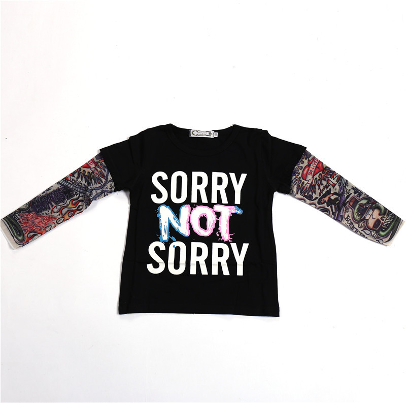 Childrenswear 2018 Summer Europe And America Boutique Childrenswear BOY'S Children Printed Lettered Cartoon Cotton Long-sleeved
