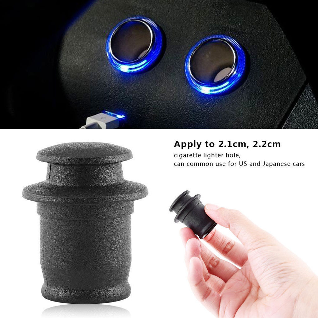 Vehicles Cigarette Lighter Socket Cover Cap Protective Shield Full Protection ABS Plastic