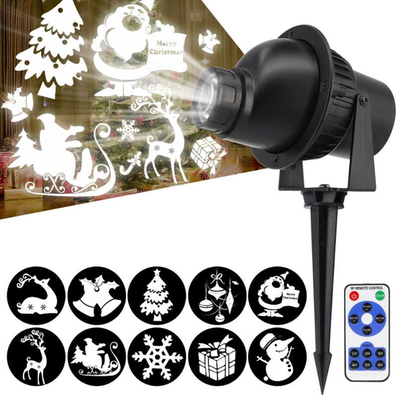 3D Rotating LED Laser Projector Effect Christmas Light Outdoor Stage Garden Light IP65 Waterproof Lawn Lamp Rotary