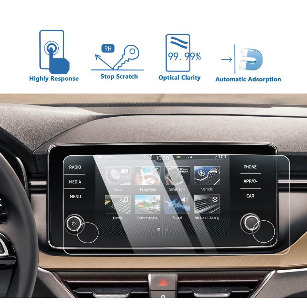 LFOTPP для Skoda Kamiq/Scala Bolero 8 дюймов автомобильный навигационный дисплей закаленное стекло Защита экрана Авто интерьерная защита Sticke автотовары