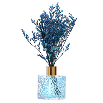 80ml Blue Aromatherapy Reed Oil Diffusers With Natural Sticks 2