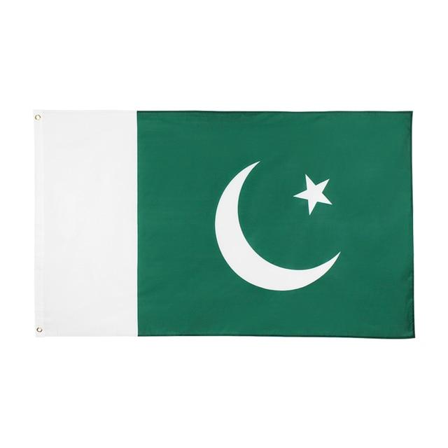 Johnin drapeau de la république islamique pakistanaise, PAK, 3x5, 90x150cm