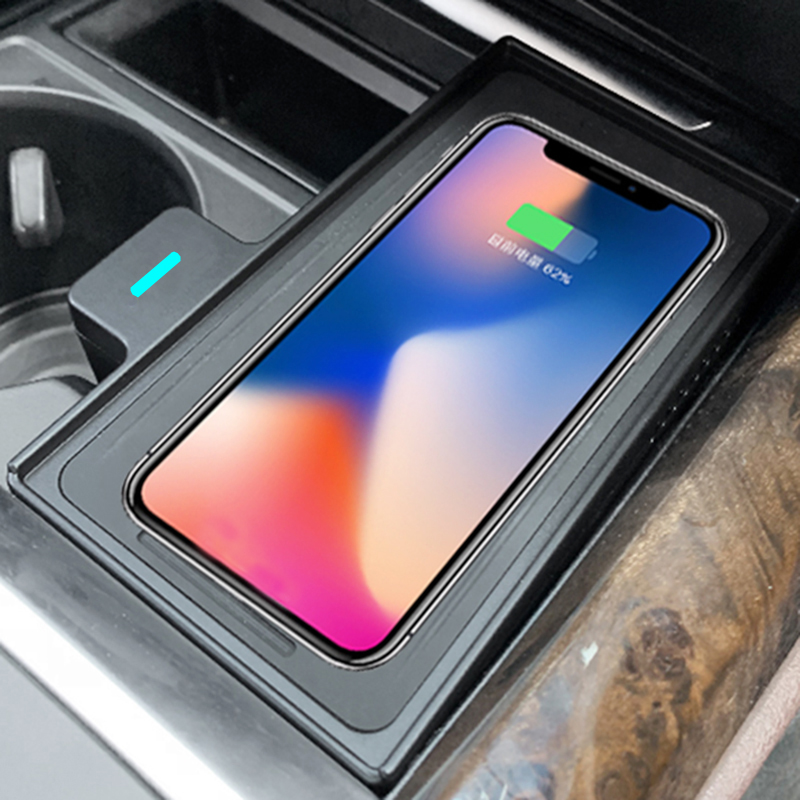 For BMW X5 X6 F15 F16 2015 2016 2017 2018 QI Wireless Charger Charging Plate Phone Holder Accessories For IPhone 8 For Samsung