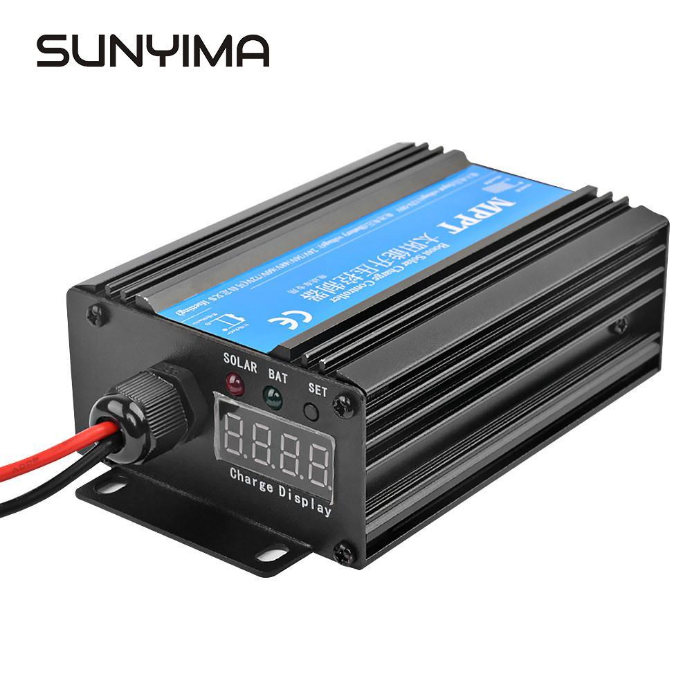 SUNYIMA 24 V/36 V/48 V/60 V/72 V MPPT регулятором солнечного Boost контроллер Батарея Электрический автомобильного зарядного устройства пост Напряжение рег...