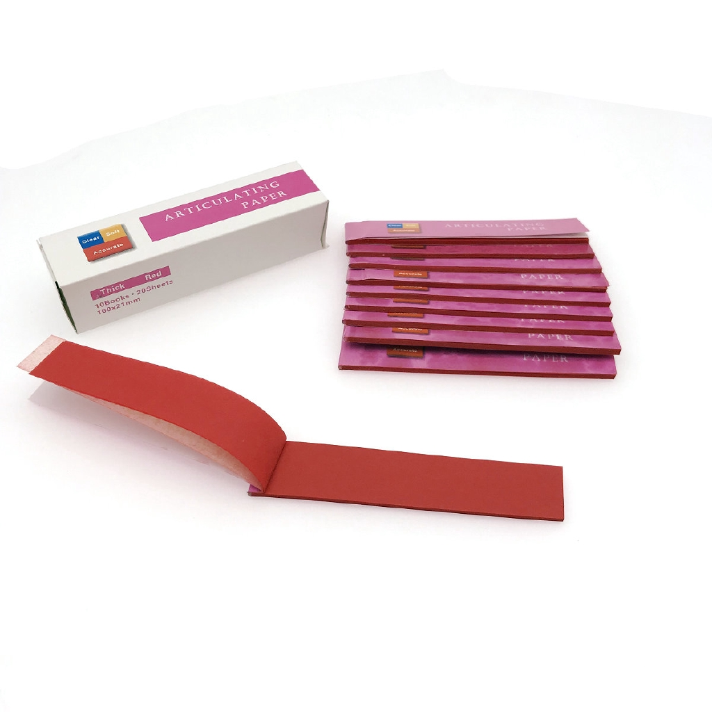 Blue/Red Dental Clinc Articulating Paper Strips Thick Strips 20 sheets/book 10 books/Box-1