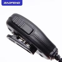 מכשיר הקשר PTT מיקרופון מיקרופון Baofeng רדיו רמקול מקורי עבור שני הדרך רדיו מכשיר הקשר UV-5R UV-5RE UV-5RA פלוס UV-6R Portable (3)