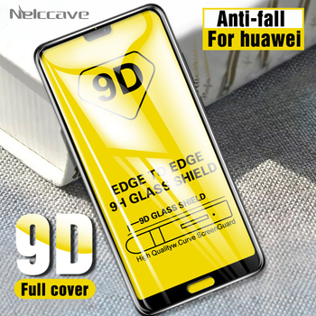50Pcs 9D Curved Full Coverage Tempered Glass For Huawei P40 Lite E P30 P20 Pro P20 Lite 2019 P10 Plus P9 Screen Protector Film