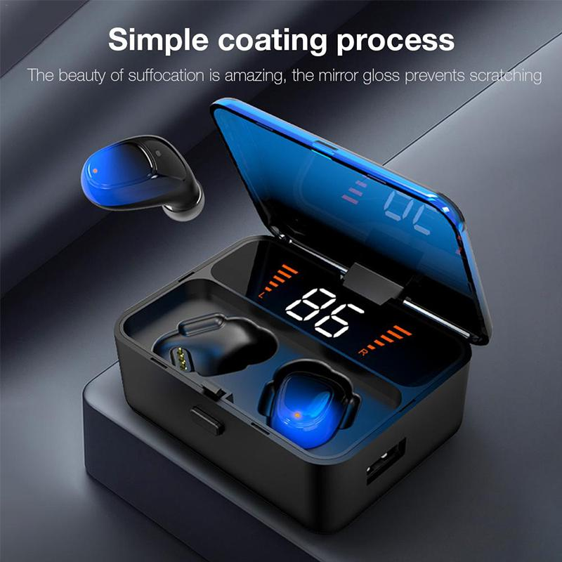 New Upgrade Touch type True Wireless Stereo 5 0 Headset Digital Display LED Gradient Mobile Power Charging Bin TWS Earphone in Bluetooth Earphones Headphones from Consumer Electronics
