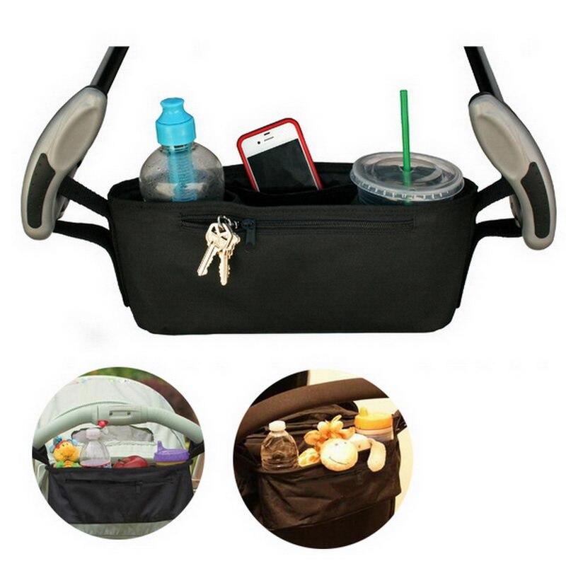 Universal Baby Jogger Stroller Organizer Bag Diaper Bag With Cup Holders Shoulder Strap FJ88