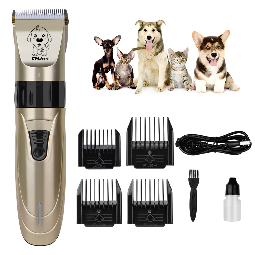 Professional Pet Hair Trimmer Animal Grooming Clippers Dog Cat Cutter USB Machine Shaver Electric Cutting USB Rechargeable