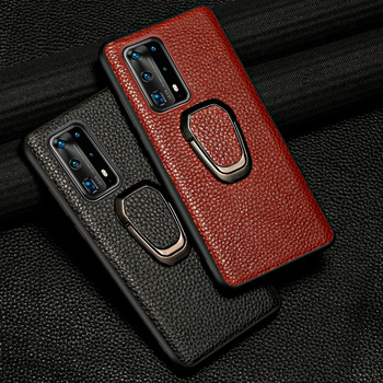 Original Litchi Grain Leather Phone case for huawei P40 Pro P30 P40 Lite P20 Mate 20 Magnetic Shell Cover for Honor 20 Pro 10 8X