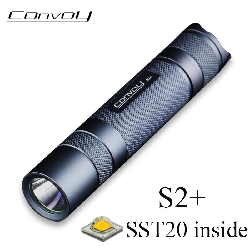 Конвой S2 + SST20 вспышка светильник Linterna Фонарик светодиодный 18650 вспышка светильник печатные платы с прямым отводом тепла (DTP Медь пластина 7135 ...