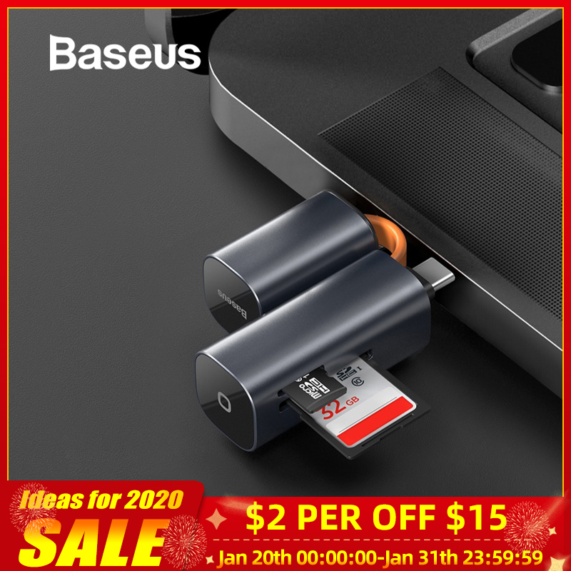 Baseus Card Reader USB 3.0 Type C to SD Micro SD TF Adapter for Laptop Accessories OTG Cardreader Smart Memory SD Card Reader