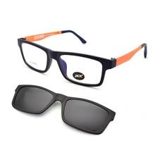 Full Frame Male and Female myopia Glasses Magnet Clip Small Size Eyeglasses 50 Sand Black Polarizing Sunglasses JKK104