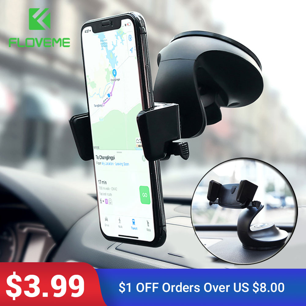 FLOVEME Auto Car Phone Holder For IPhone 11 7 GPS Stand For Samsung Air Vent Holder For Cell Phone In Car Swan Soporte Support