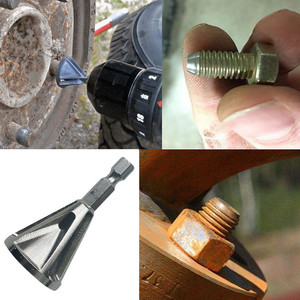 Image 2 - Narzędzie do usuwania zadziorów ze stali nierdzewnej narzędzie do zewnętrznego fazowania wiertła usuń Burr srebrne akcesoria narzędzia ręczne obróbka drewna #5