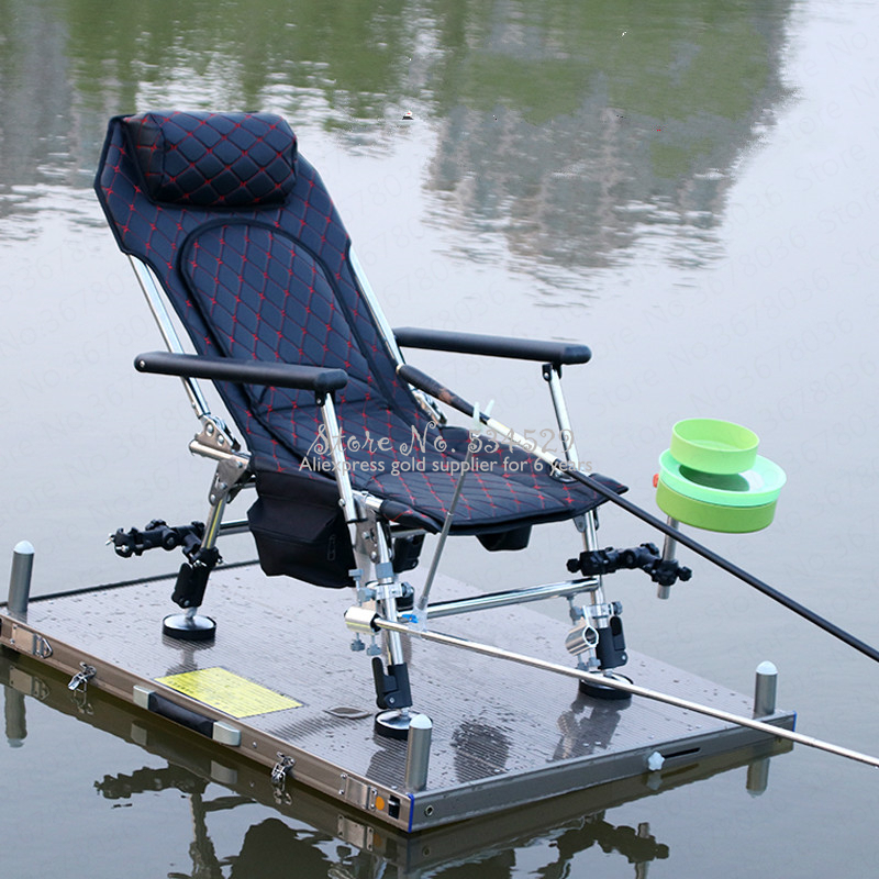 29%New Folding Fishing Chair Portable Multi-function Lifting Fishing Chair Stainless Steel Recliner Fishing Stool