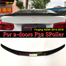 F32 2-doors Hard Top Tail Spoiler Wing Forging Carbon M4 Style For BMW 4 Series 420i 430i 430iGC 440i Trunk Spoiler Wing 2014-18 f32 2 doors hard top tail spoiler wing forging carbon m4 style for bmw 4 series 420i 430i 430igc 440i trunk spoiler wing 2014 18