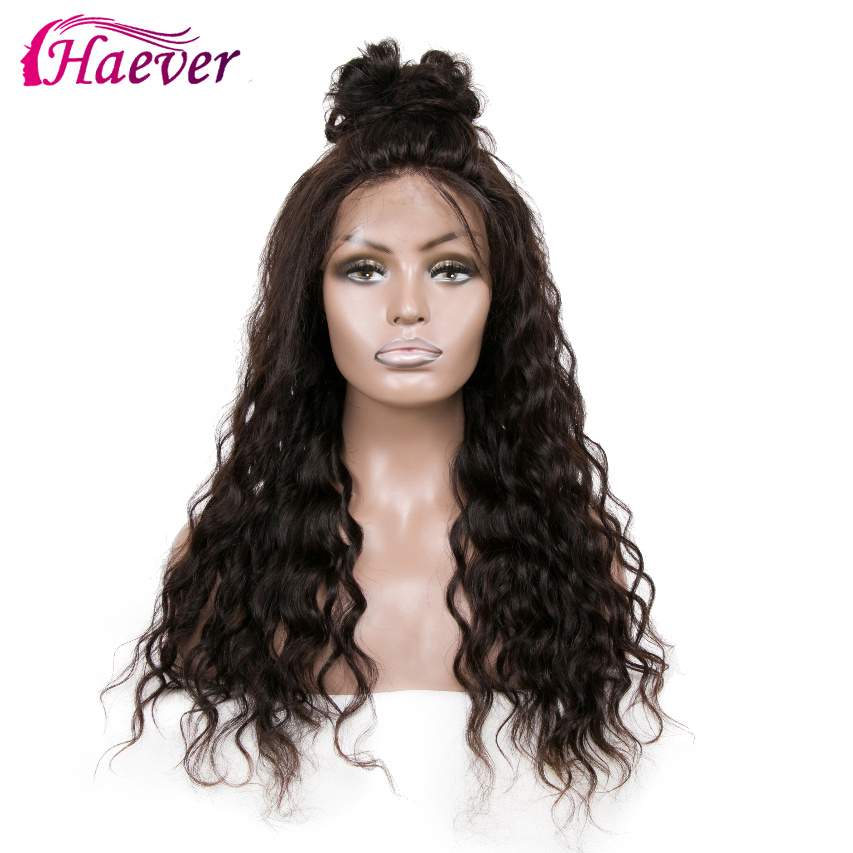 Haever 13x4 Lace Front 180% Density Human Hair Wigs Peruvian Virgin Hair Water Wave New Hair Hairline For Woman Pre Plucked