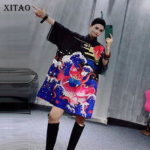 XITAO Plus Size Print T Shirt Fashion New Women Pullover Loose Goddess Fan Casual Style Elegant Casual Style Tee Top GCC3484
