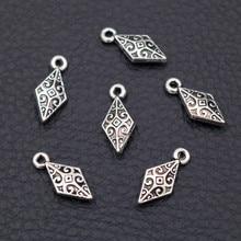15pcs Antique Silver Mini 3D Prismatic Shuttle Dart Pendant Retro Earrings Bracelet DIY Metal Jewelry Charms Handmade Supplies