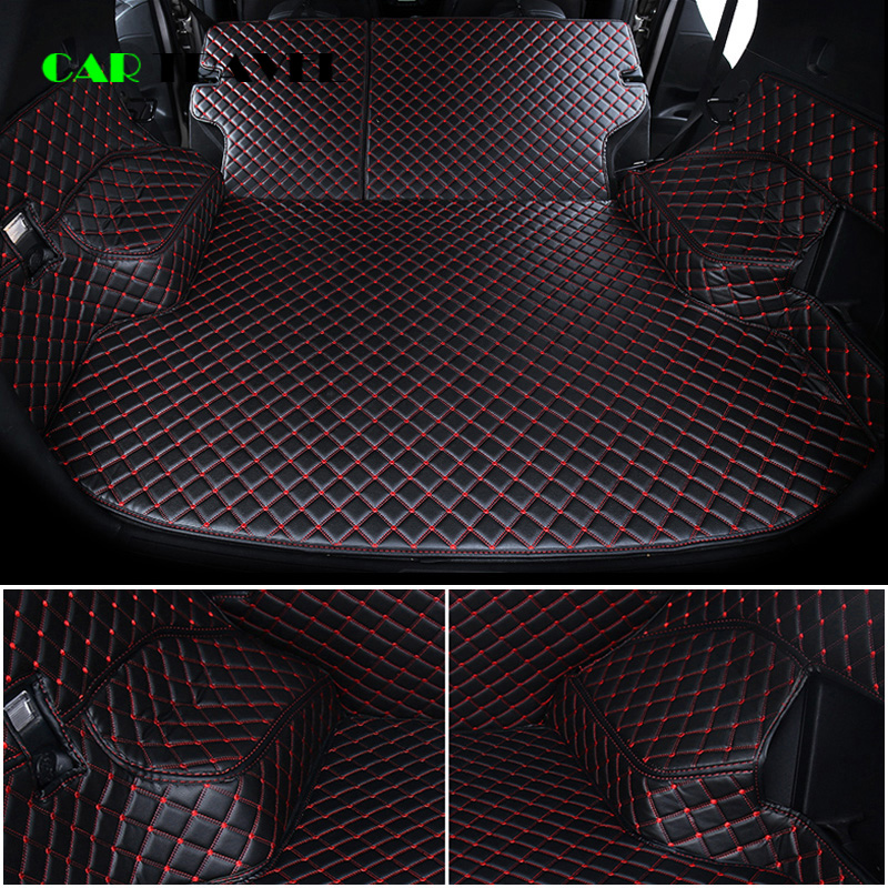 Custom leather Car Trunk Mats For Nissan X Trail Rogue XTrail T30 T31 T32 2001   2018 Rear Trunk Floor Mat Tray Carpet Mud