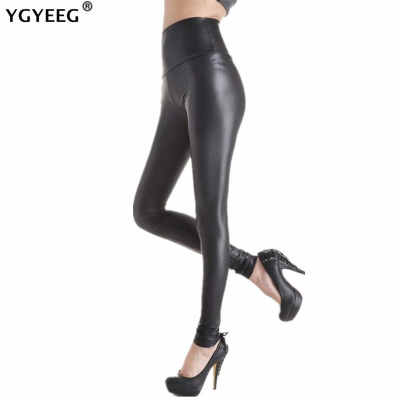 YGYEEG Faux Leather High Waist Leggings New Fashion Women's Sexy Skinny High Elasticity Leggings Pants S/M/L/XL/XXL Multicolor