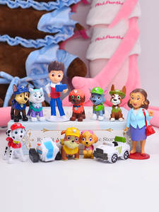 Toys Patrol-Toy Action-Figure Puppy Anime Children for 2D08 Paw 12pcs Canine PVC