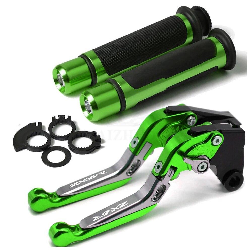 Ручка тормоза мотоцикла CNC Aliuminum Регулируемый рычаг тормоза сцепления ручка для Kawasaki ZX6R 2000 2001 2002 2003 2004 ZX-6R