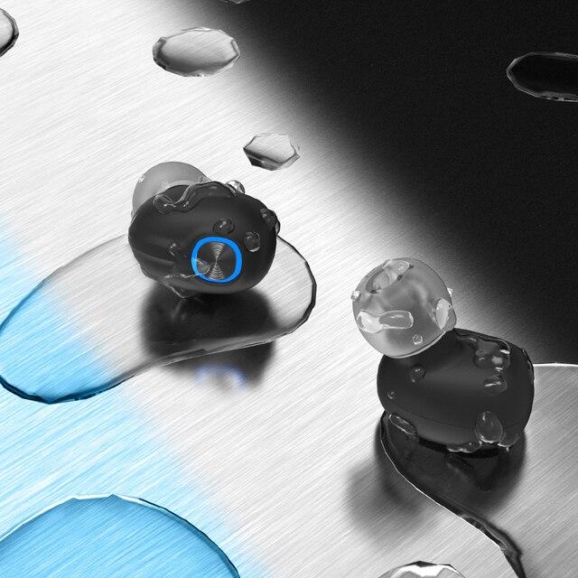 Bluetooth Wireless Headphones with Mic Sports Waterproof TWS Bluetooth Earphones key Control Wireless Headsets Earbuds Phone 4