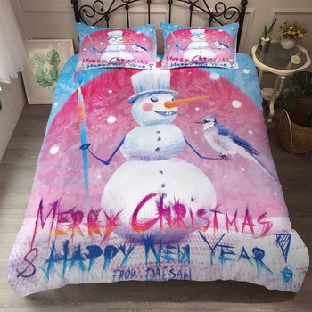 BEST.WENS American Style Christmas Bedding Set AB Side BedSet King Size Luxury Duvet Cover Set Bedding Happy New Year Bedclothes