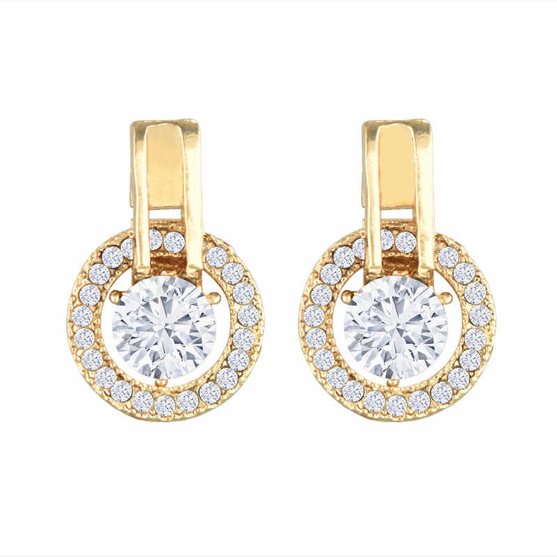 2019 Korean Statement Crystal Earrings Geometric Gold Dangle Drop Earrings for Women Fashion Jewelry Brincos Accesorios Mujer