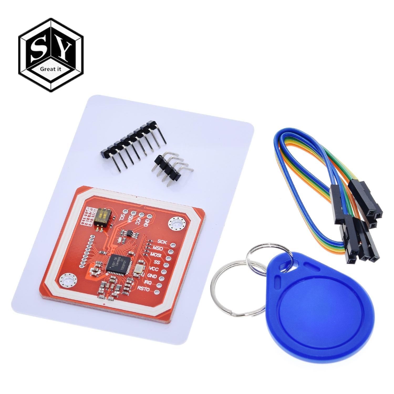 1 takım büyük IT PN532 NFC RFID kablosuz modülü V3 kullanıcı kitleri okuyucu yazar modu IC S50 kart PCB i2C IIC SPI HSU Arduino için