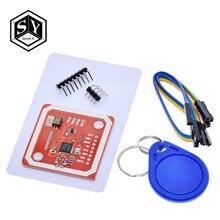 Ótimo modulo de utilizador sem fio, pn532 nfc v3 kits de usuário leitor modo ic s50 cartão pcb atenna i2c iic spi hsu para arduino