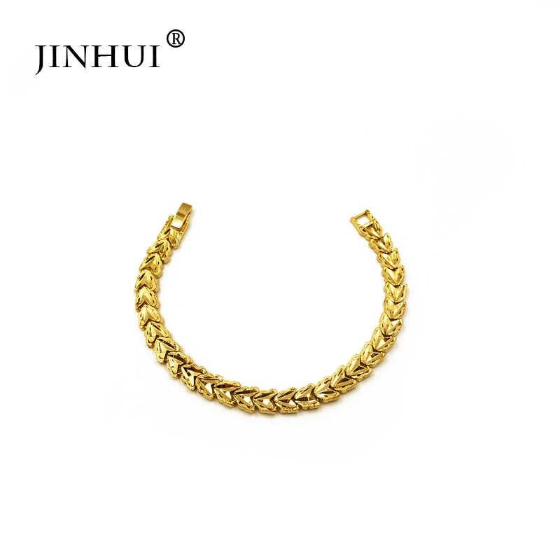 Nueva pulsera de color dorado para hombre, para fiestas y fiestas, regalos de lujo para mujeres, brazalete en forma de corazón en Dubai joyería