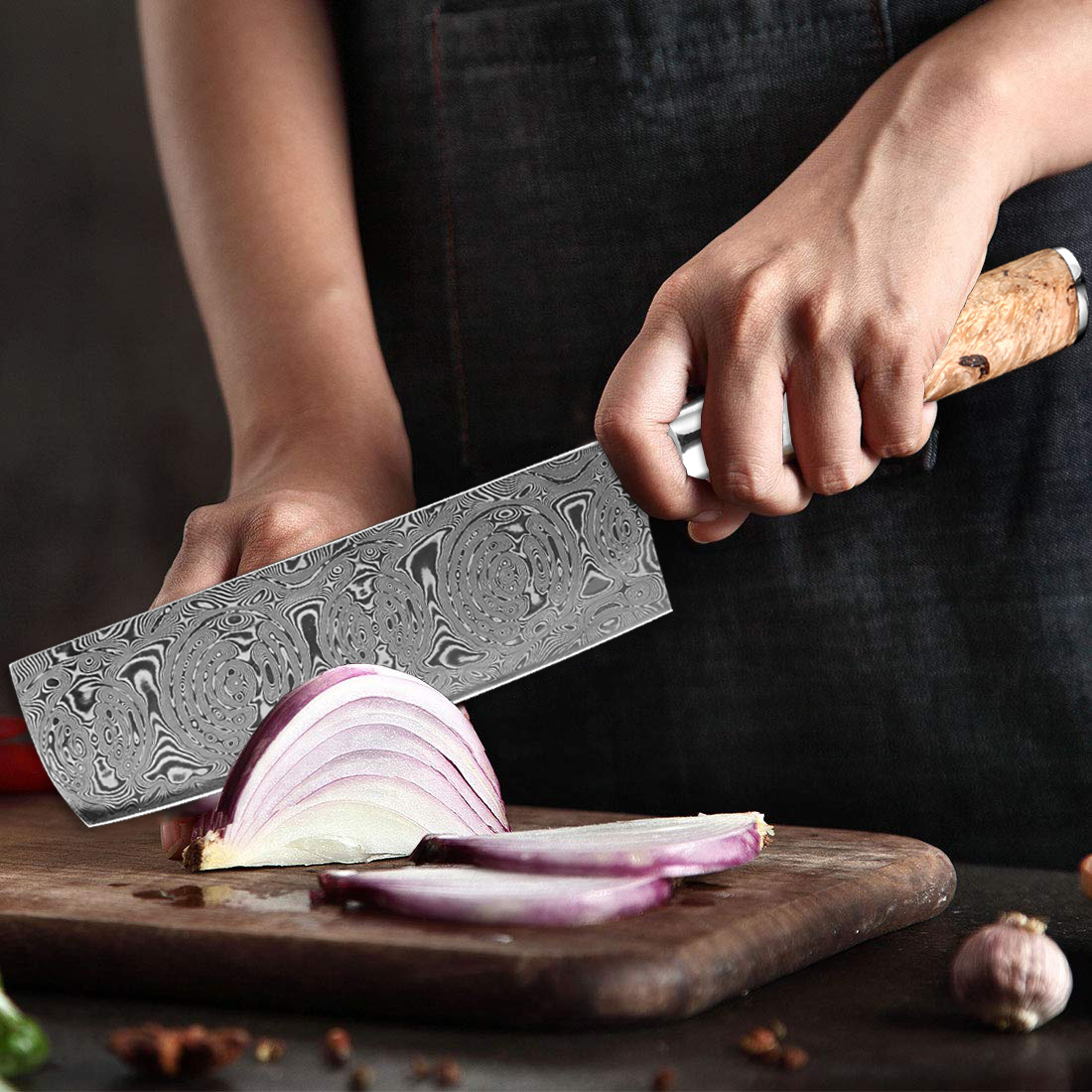 Damascus Meat Cleaver