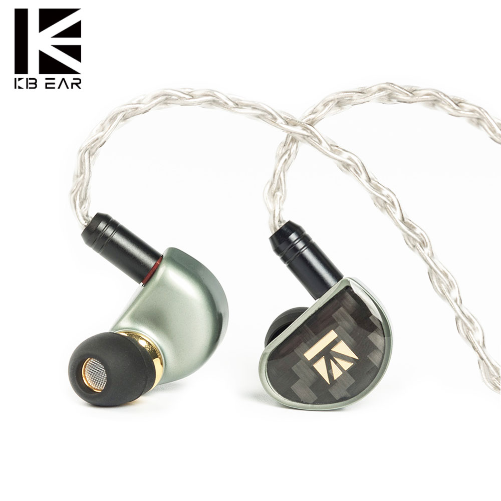 New KB06 Diamond Diamond-like Carbon (DLC) Coated PET In Ear Earphone <font><b>0.78</b></font> <font><b>2pin</b></font> <font><b>Cable</b></font> HiFi Earbud DJ Sports Balanced Headset image