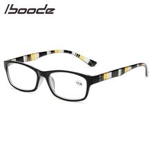 IBOODE okulary do czytania okulary kobiety mężczyźni plac okulary korekcyjne okulary kobieta mężczyzna w paski świątyni nadwzroczność okulary powiększające okulary tanie tanio Unisex Przezroczysty Lustro Z tworzywa sztucznego YJ7434 5 6cm 3 4cm Eyewear Reading Glasses Black Purple Red Reading Glasses Eyewear Eyeglasses Magnifying Glasses