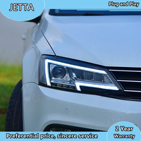 Car Styling Head Lamp for VW Jetta Mk6 LED Headlight 2011 2018 Headlights LED DRL light house projector Lens Bi Xenon Beam