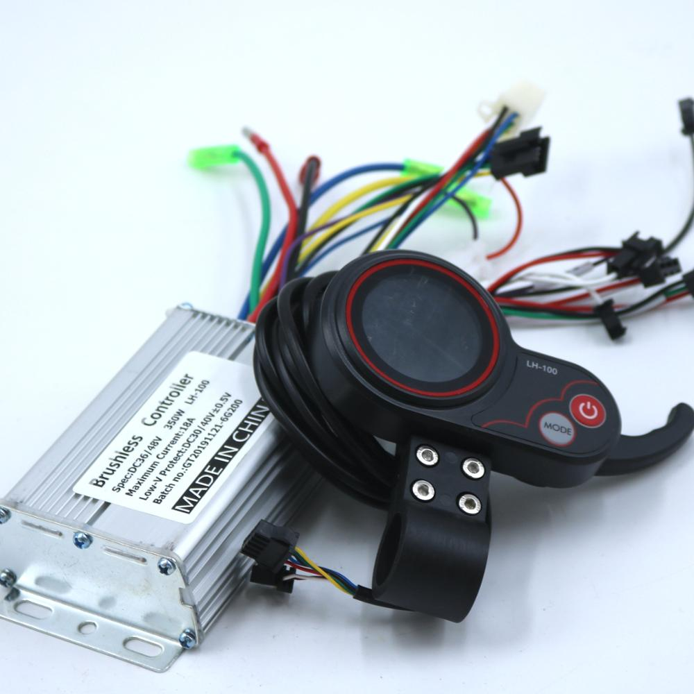 Greentime 36 V/48 V 350W BLDC Skuter Listrik Controller E-Sepeda Brushless Kecepatan Driver dan LH-100 LCD Display Satu Set