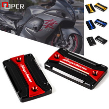CNC Motorcycle Front Rear Brake Fluid Reservoir Cap Cover For SUZUKI HAYABUSA GSX1300R GSXR1300