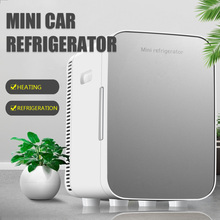 15L Car Home Auto Refrigerator Dual Core Freeze Heating Food Fruit Storage Fridge Cooler for Home Travel Camping DC12-24V/AC220V