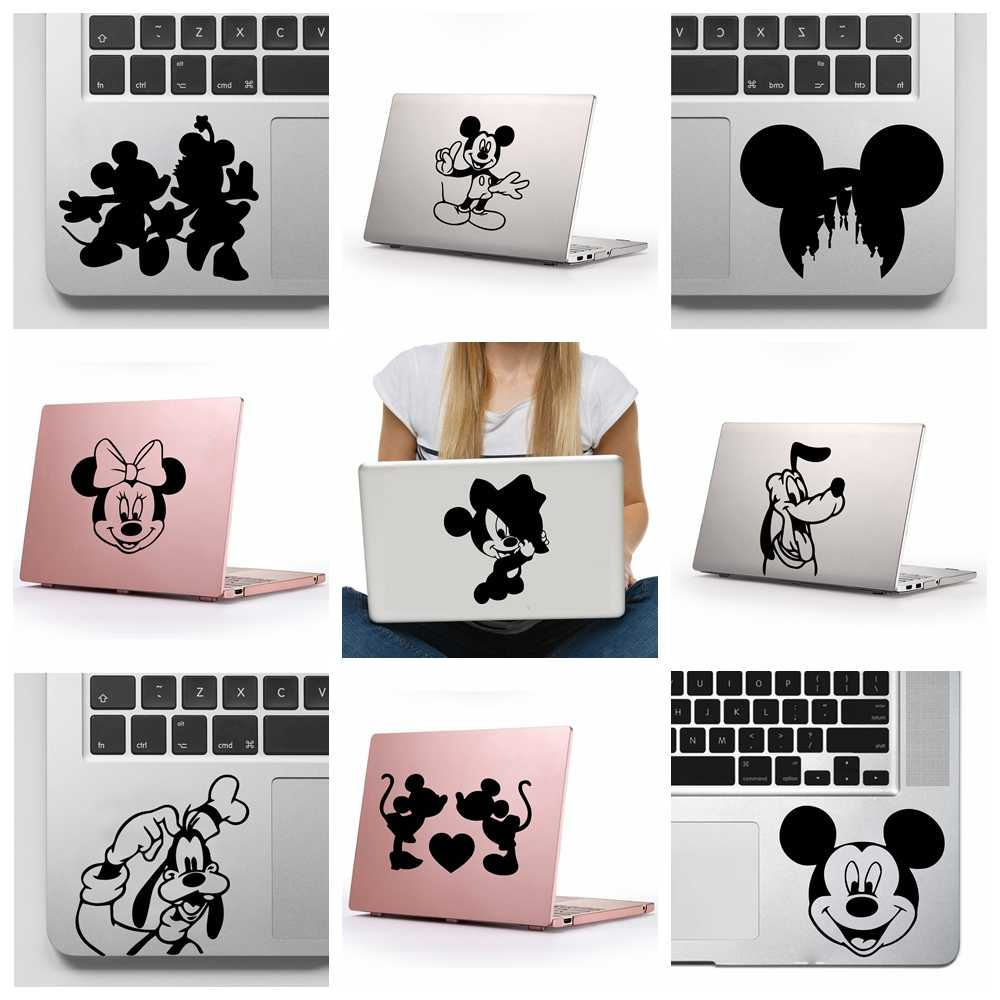 Cute Mickey Minnie Mouse Removable Art Vinyl Stickers For Computer Decor Laptop Sticker Home Decoration Waterproof Decals
