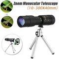 4k 10-300x40mm Супер телефото зум Монокуляр Телескоп для охоты на открытом воздухе с штатив Клип Комплект Мобильный телефон Аксессуары