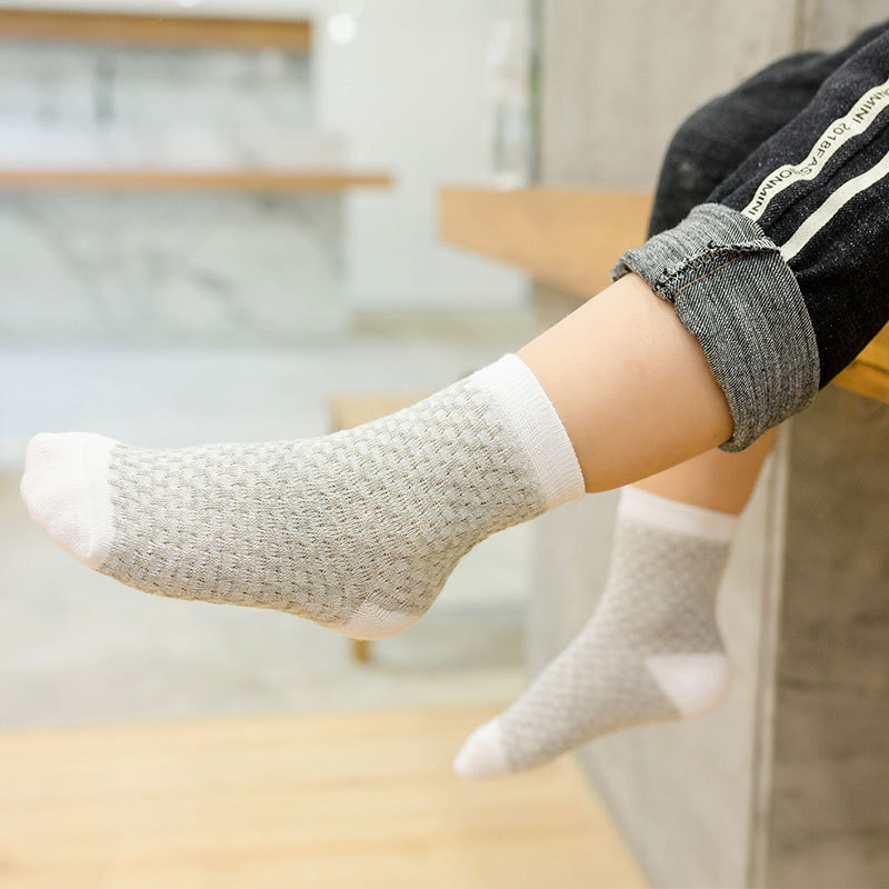 19 Years Spring And Summer-Children Bubble Socks Thin Cotton Children Tube Socks Breathable Baby Socks