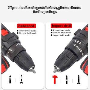Image 4 - Chave de fenda elétrica mão broca bateria recarregável elétrica martelo broca elétrica chave de fenda diy ferramenta elétrica do agregado familiar