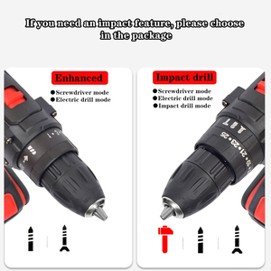 Image 3 - Screwdriver Electric Hand Drill Battery Rechargeable Electric Hammer Drill Electric Screwdriver DIY Household Electric Tool